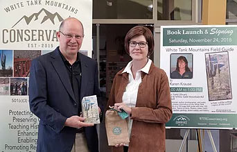 Bob Bement, Executive Vice President with APS and<br /> Karen Krause, Local Historian and Author